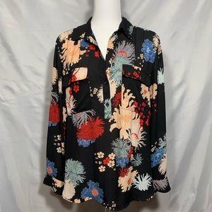 Ann Taylor Factory Floral Blouse
